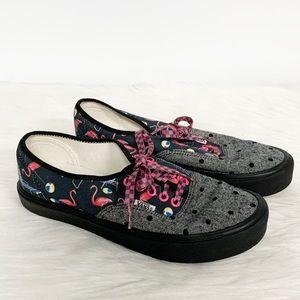 Vans | Gray Beach Patterned Flamingo Sneakers 8